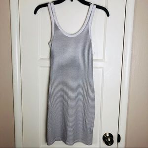 James Perse Long Striped Tank Top